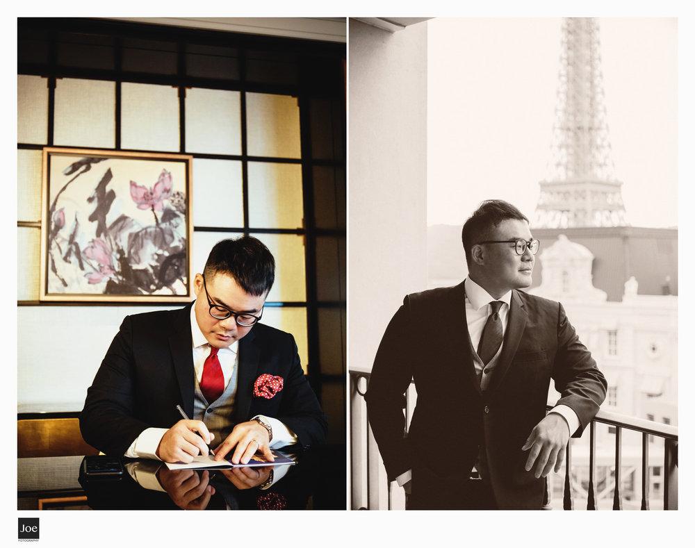 四季皇家套房  陽台是面對  巴黎人(Parisian)  。
