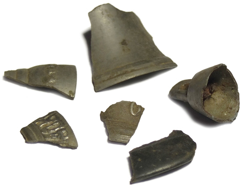 Fragments of metal bells