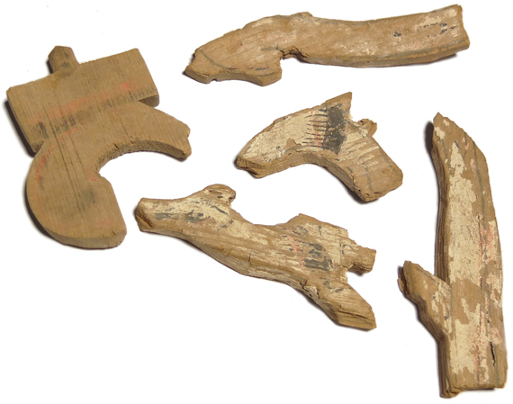 Wooden Fragments from a warrior's tomb