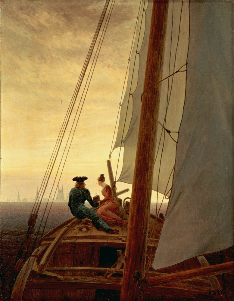 'On the Sailing Boat' by Caspar David Friedrich