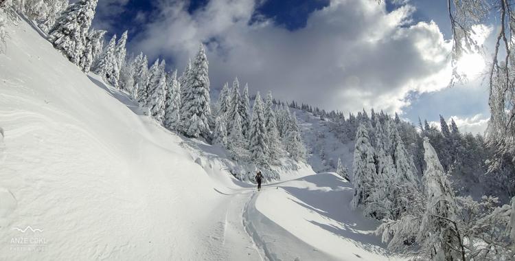 Zimska idila ob vzponu na Struško!