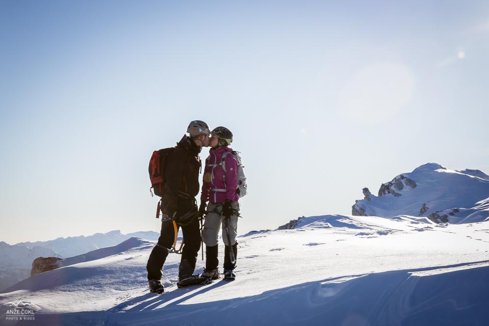 Visokogorski poljub za ljubezni polno novo leto 2013!