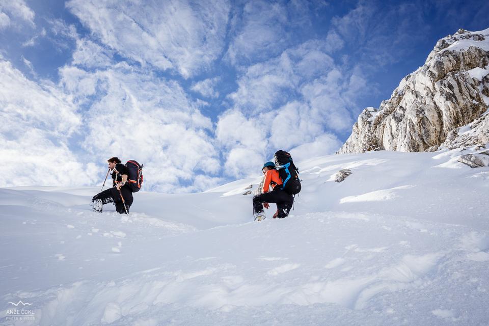 Gaženje zapihanega snega
