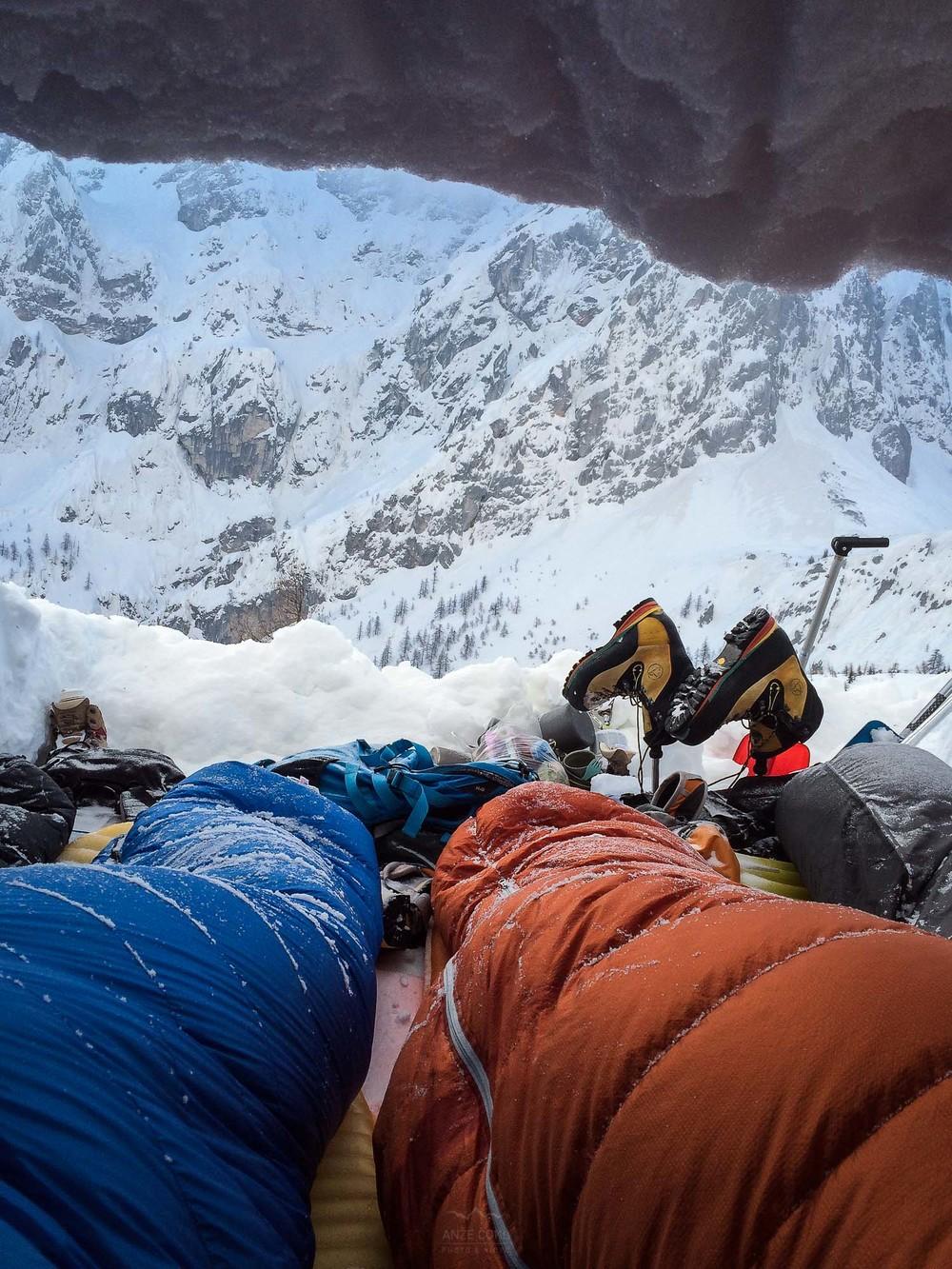 Uporaba bivak vreče tudi ob slabšem vremenu ni nujna.