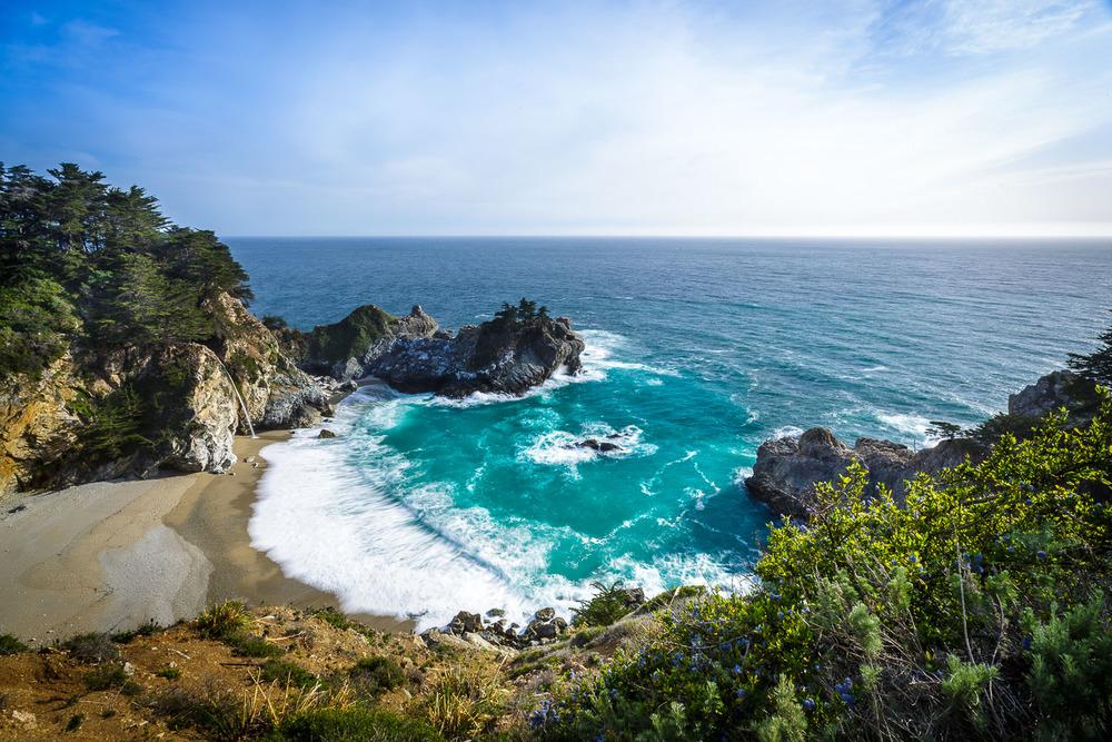 Eden najbolj kičastih prizorov Pacifiške obale ZDA - zaščiten naravni rezervat in prepovedano približevanje.