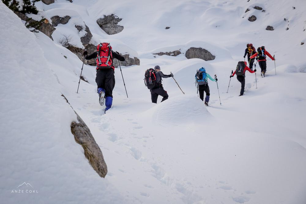 Slalom in iskanje najlepših prehodov.
