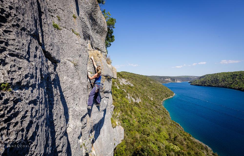 Monika pleza z razgledom na fjord :)