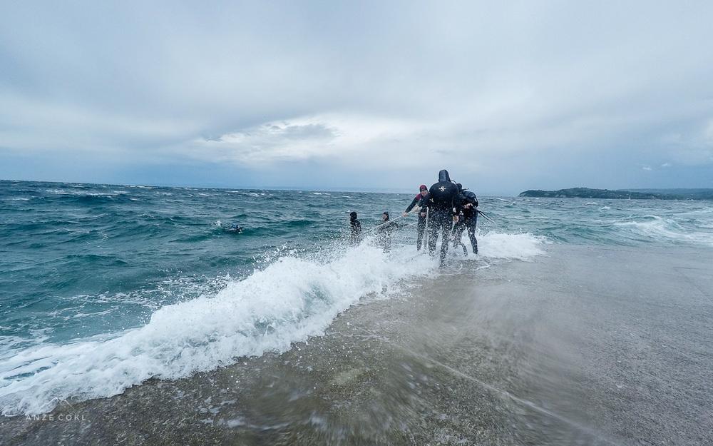 Začinjen izhod iz morja.