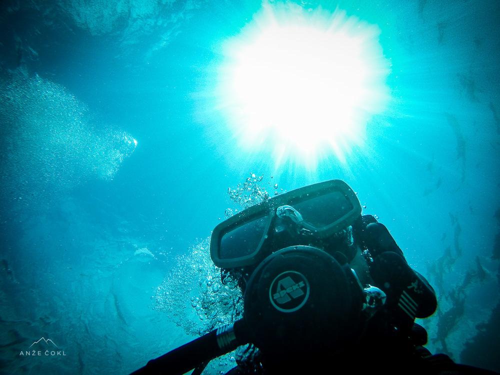 Z morskega dna navzgor.