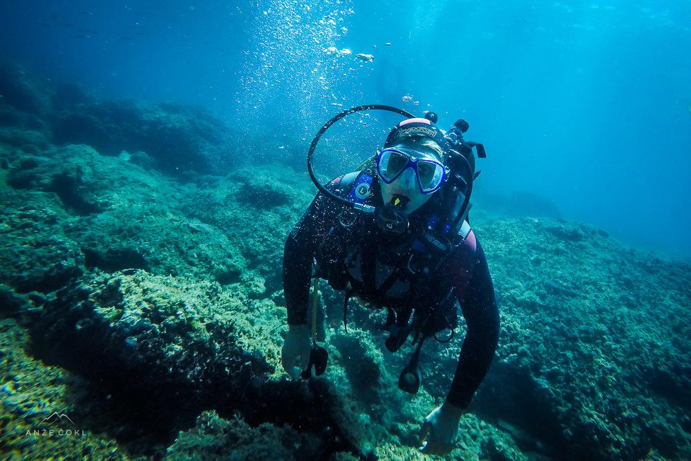 Roberto Carlos na morskem dnu!