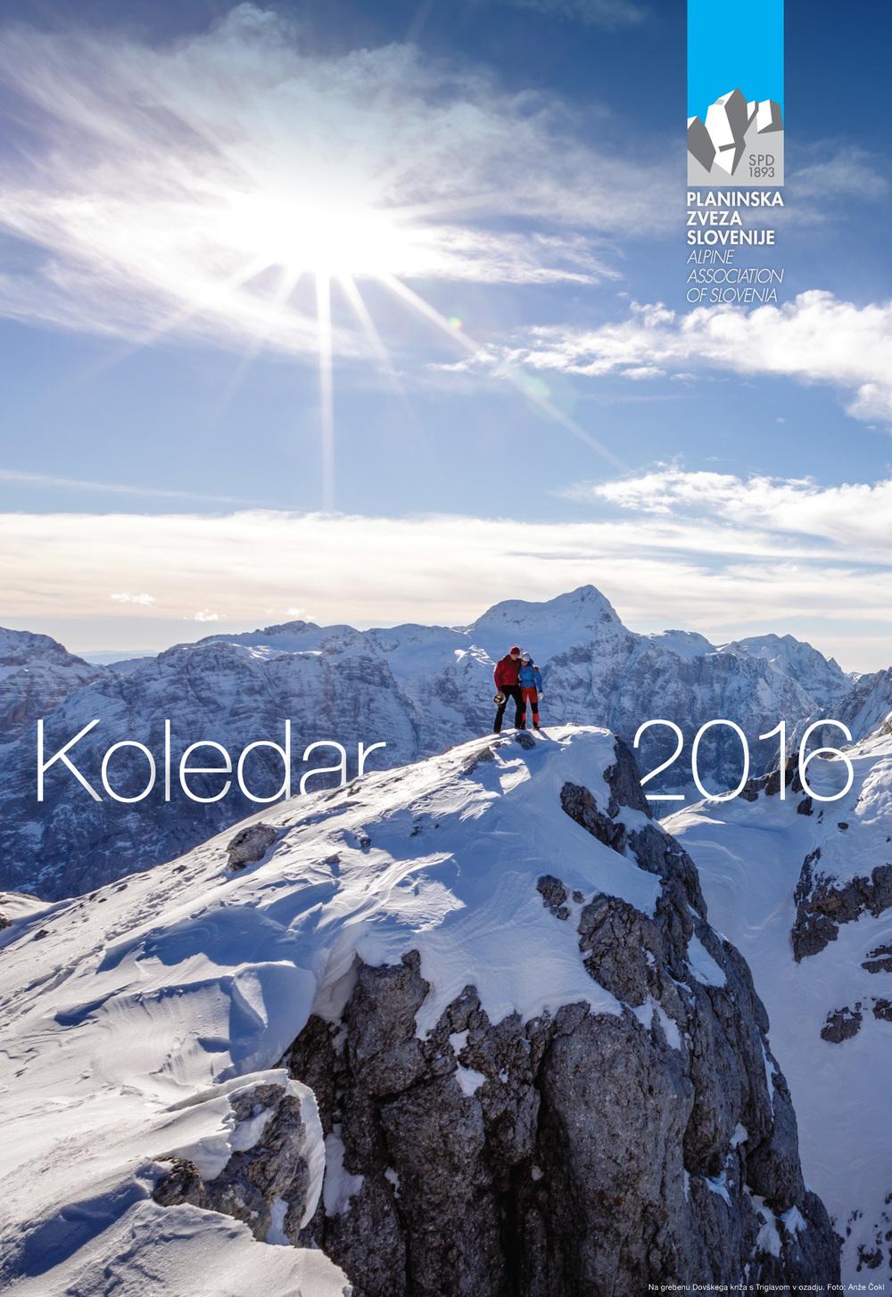 Naslovnica planinskega koledarja za leto 2016