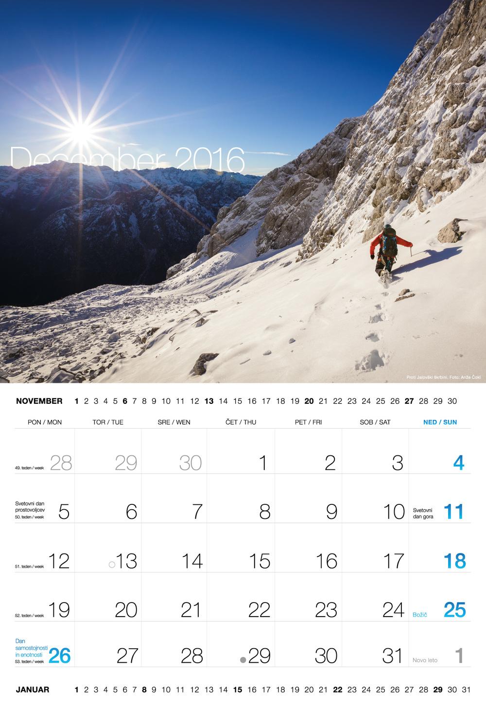 Planinski koledar 2016