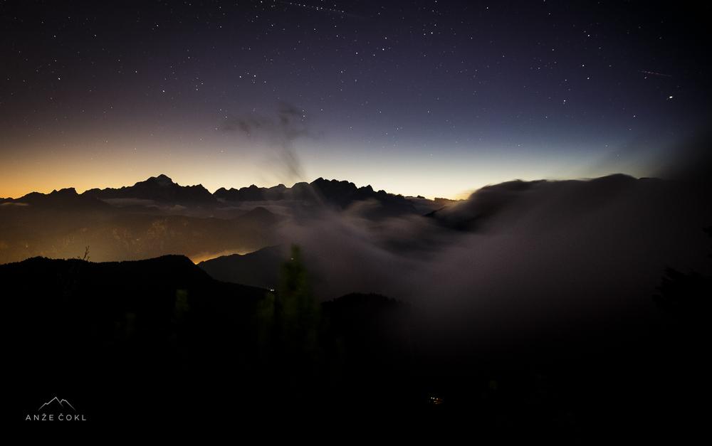 Prvi postanek za fotografijo nočnega neba.