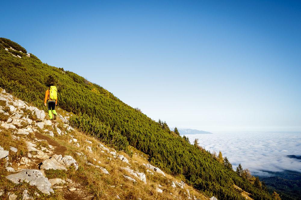 Zadnji metri vzpona pod grebenom