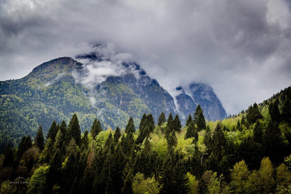 Pomanjkanje sonca v Dolomitih