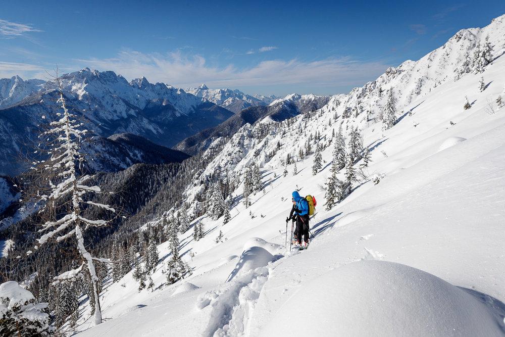 Razgledi na Julijske Alpe so naravnost fantastični!