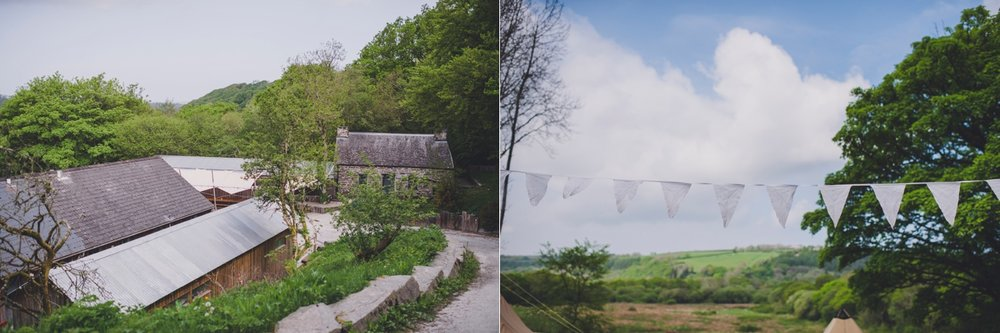Pembrokeshire outdoor wedding venue Fforest