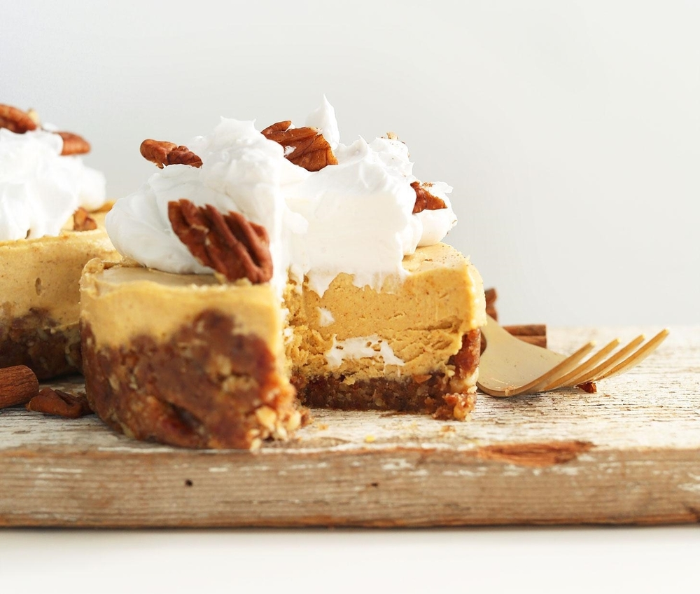 The rise in veganism has cause a rise in some seriously impressive creativity in the kitchen. This  vegan pumpkin cheesecake  looks as creamy as can be, all thanks to the magic of plant-based ingredients like coconut milk and cashews. Dana uses olive oil in this recipe, but our  macadamia nut oil  would work really well with the pumpkin flavour too!