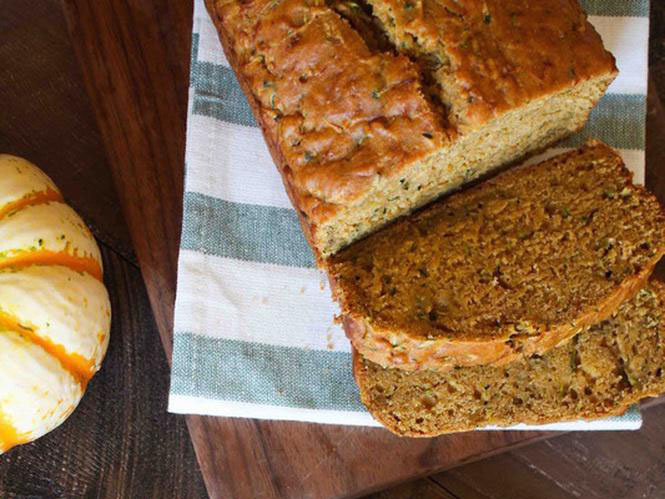 This  pumpkin zucchini bread  is low in sugar and has a high veg content, a great treat for the healthier eaters among us! If you grow your own veg and find yourself with a big courgette glut at this time of year, this is a perfect way to use some of it up. Amber and Alex use coconut oil in this recipe, but it would be just as tasty with some of our  avocado oil .