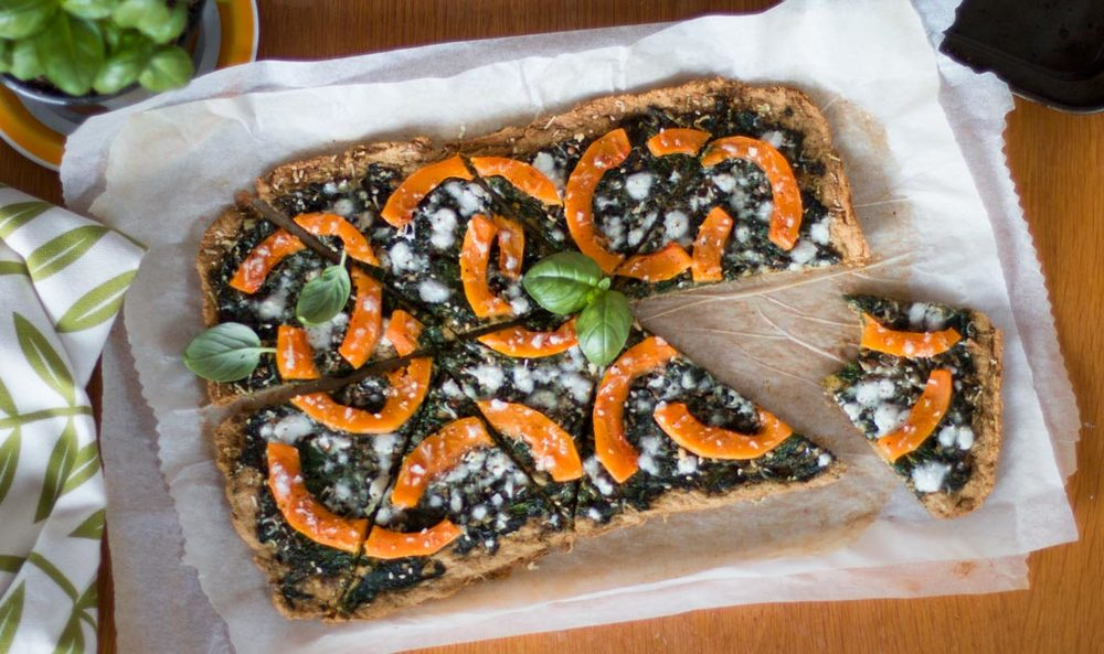 Thin and crispy gluten-free pizza base