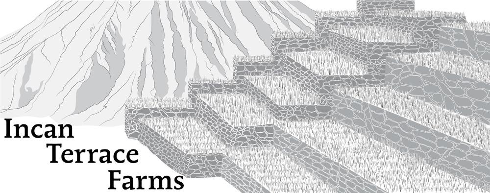 Mesoamerica illustrations maps justin rodriguez for Terrace farming diagram