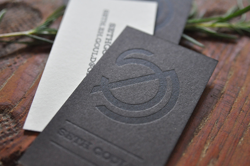 Seth Gould Letterpress Business Cards
