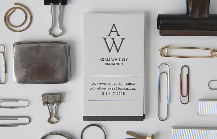 Adam Whitney Letterpress Business Card