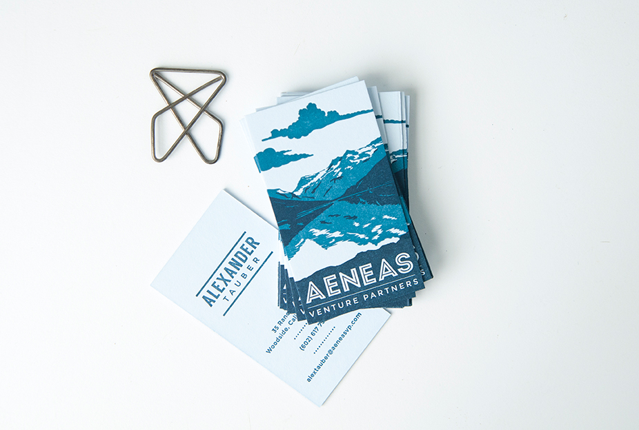 Aeneas Letterpress Business Cards