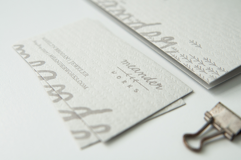 Meander Works Letterpess Stationery