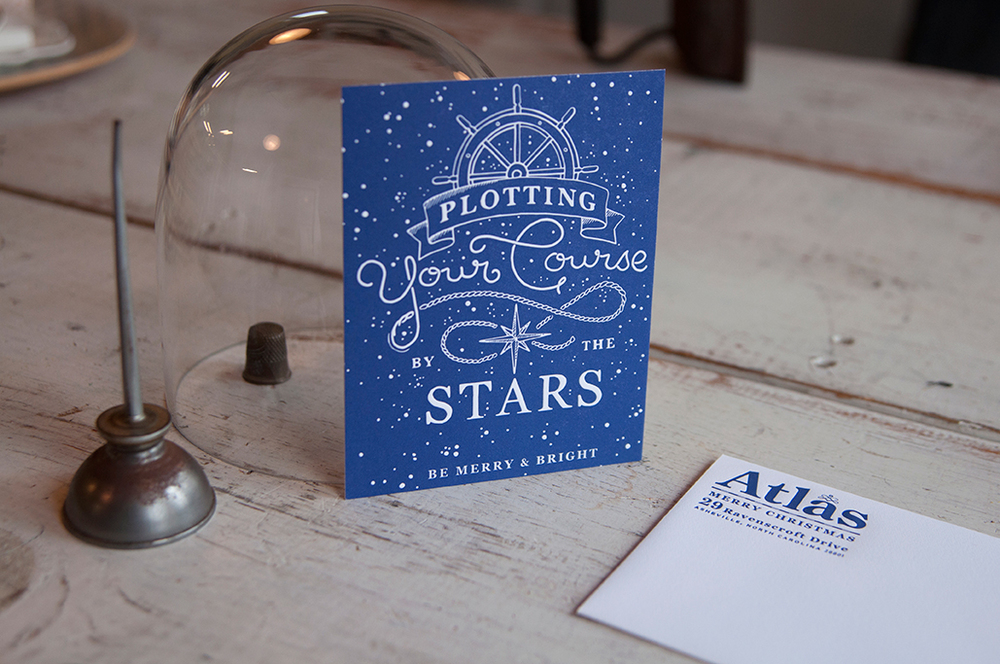 Atlas Branding Letterpress Card
