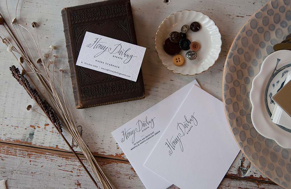 Honey Darling Letterpress Stationery