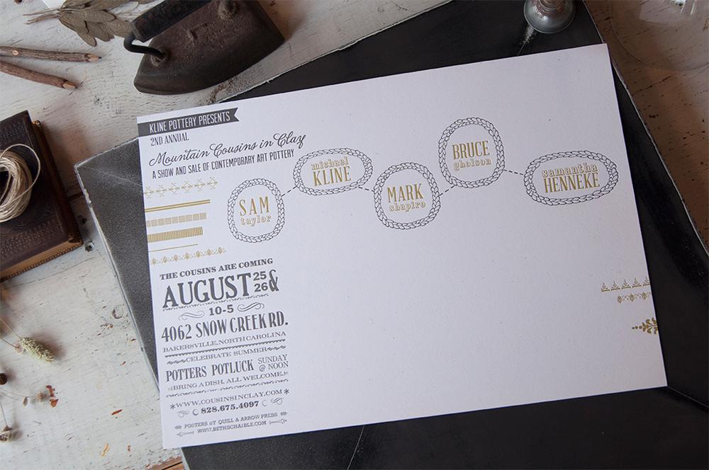 Kline Pottery Letterpress Poster
