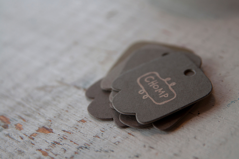 Chomp Textiles Letterpress Hang Tag