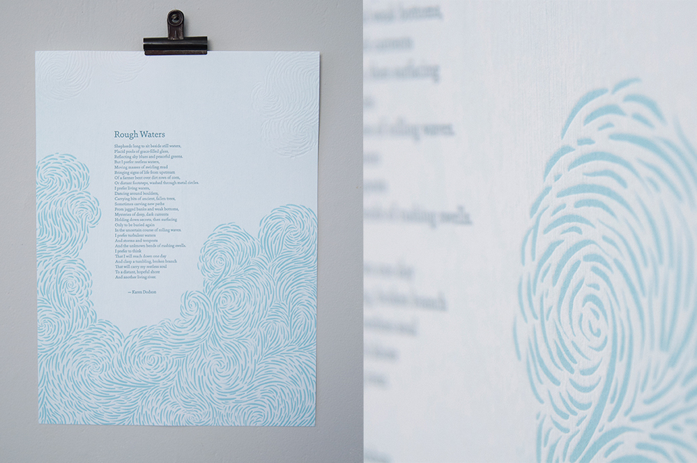 Rough Waters Letterpress Broadside
