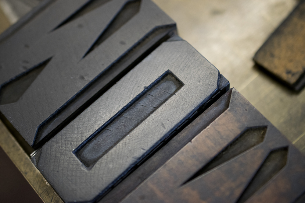 Wood type set for mother's day cards... on press this week!