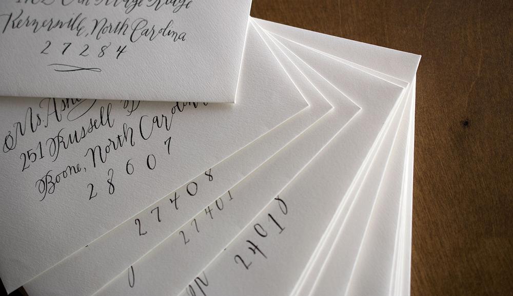 7 ton calligraphy envelopes