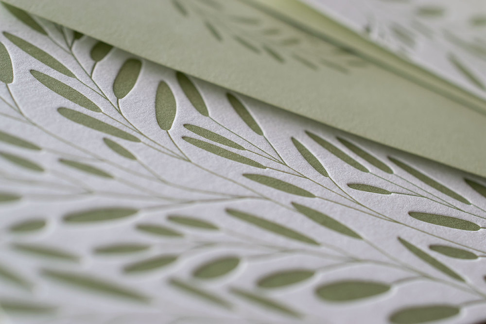 letterpress wedding invitations by 7 ton co. entwined