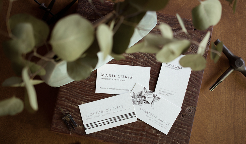 letterpress printed business card templates by 7 ton co.