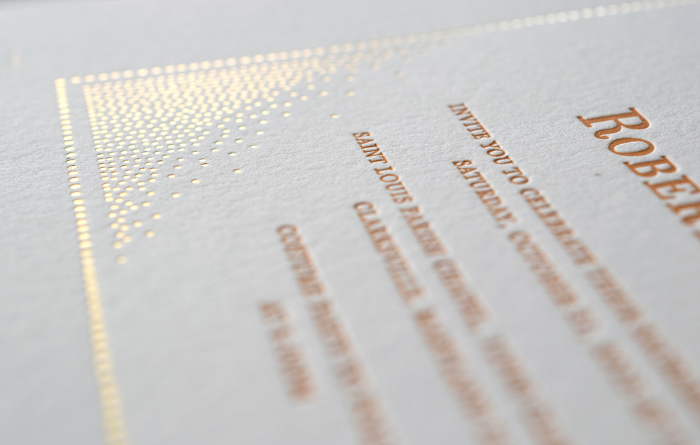 Gold Foil and Letterpress by 7 ton co