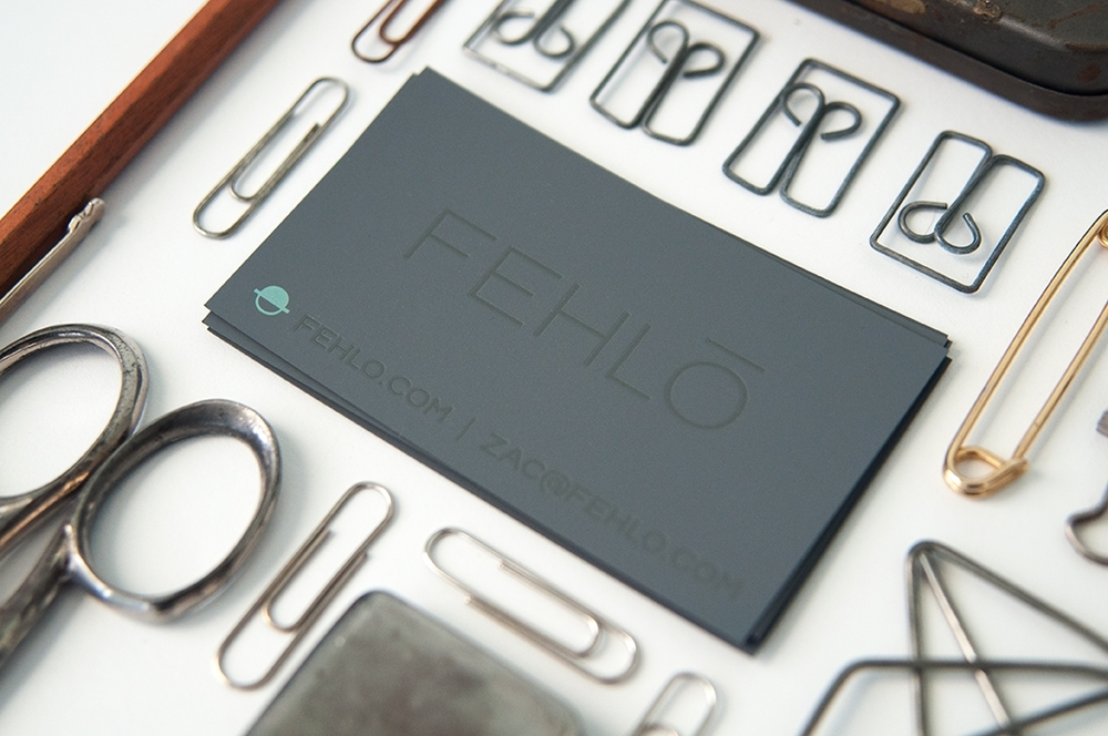 Fehlo Letterpress Business Card Design, Branding Design