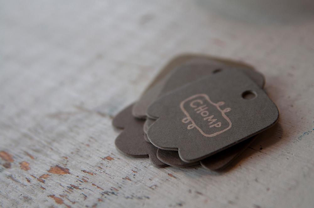 Hang Tag Design, Letterpress Printing