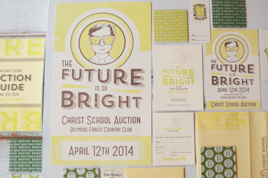 7 Ton Co. — The Future is so Bright Letterpress Collateral