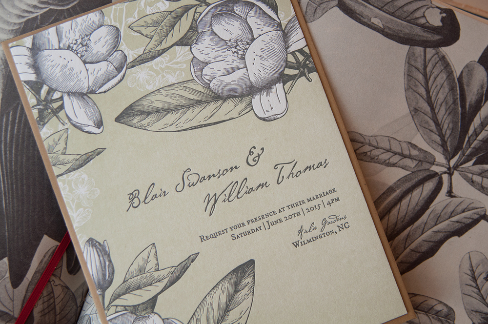 7 Ton Co.—Letterpress Wedding Invitation