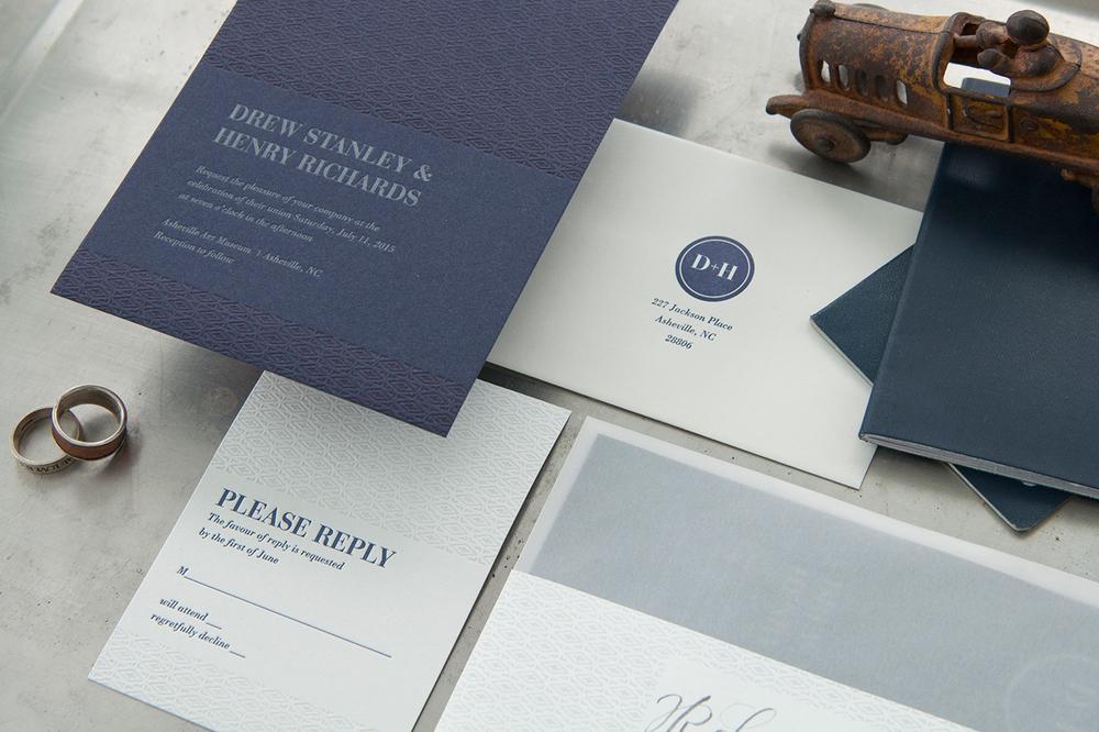 7 Ton Co. — Letterpress Wedding Suite