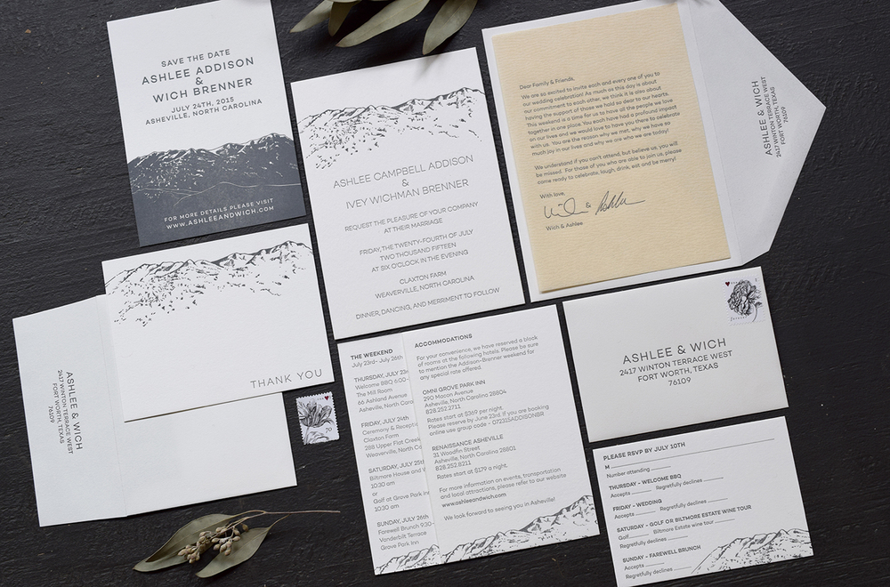 7TonCo.—Custom Letterpress Invitation