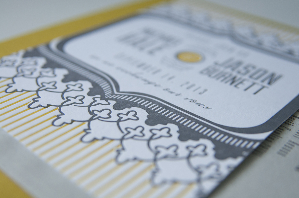 7TonCo.—Custom Letterpress Invitation