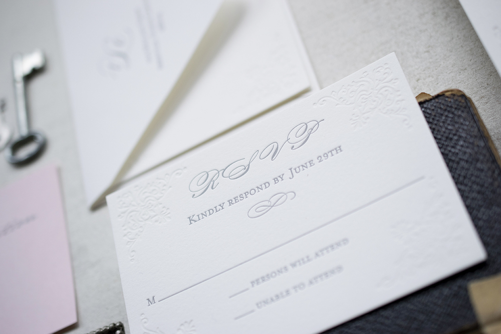 7 Ton Co.—Custom Letterpress Invitation