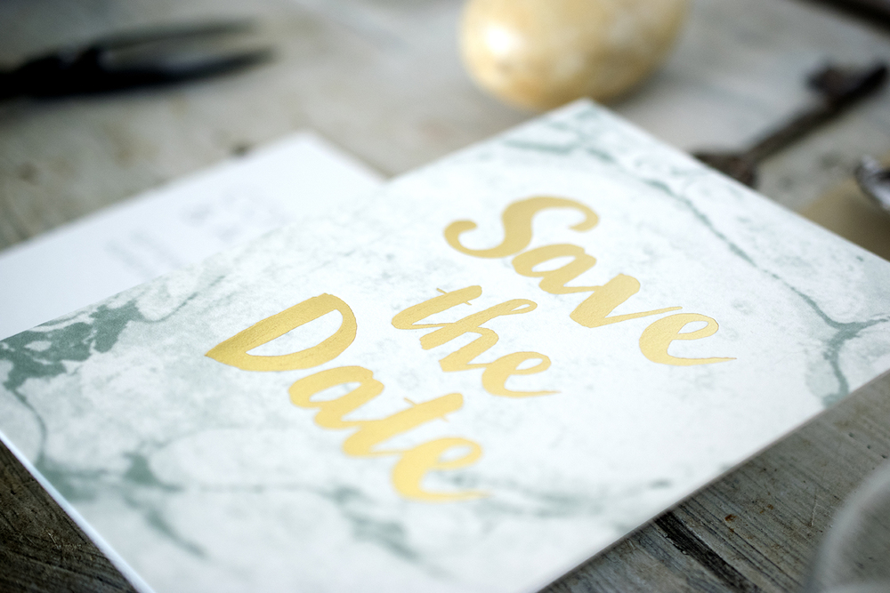 7 Ton Co.—Custom Gold Foil Save the Date
