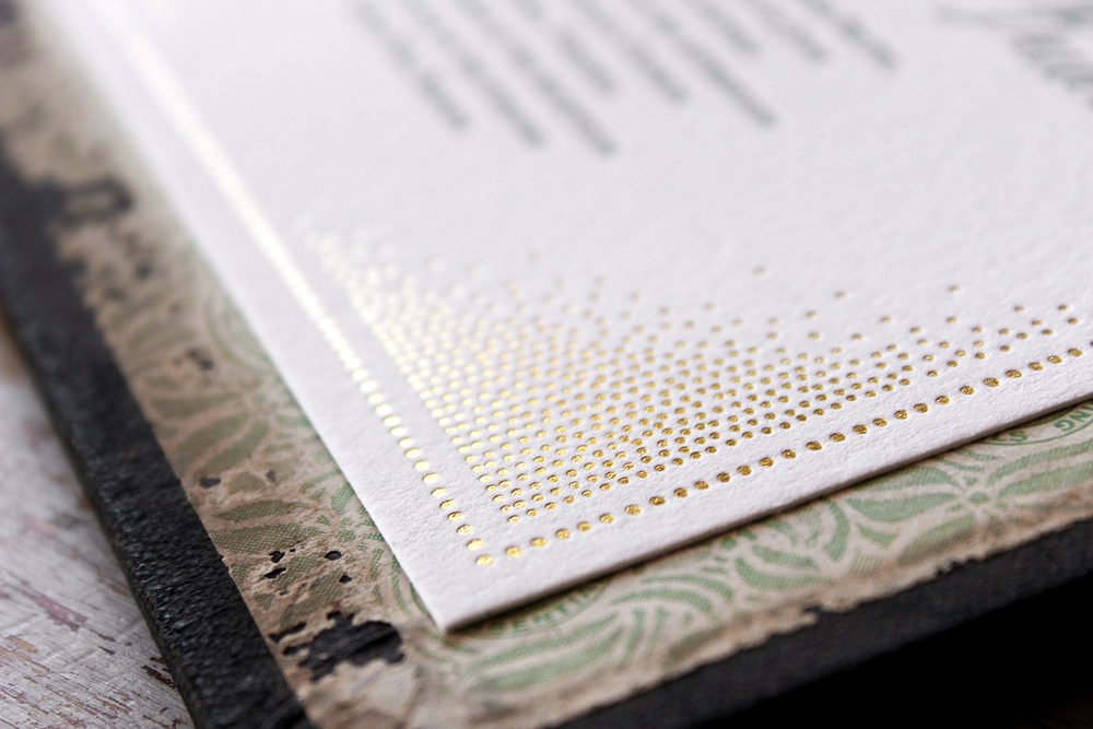 7 Ton Co.— Gold Foil and Lettepress Invitation