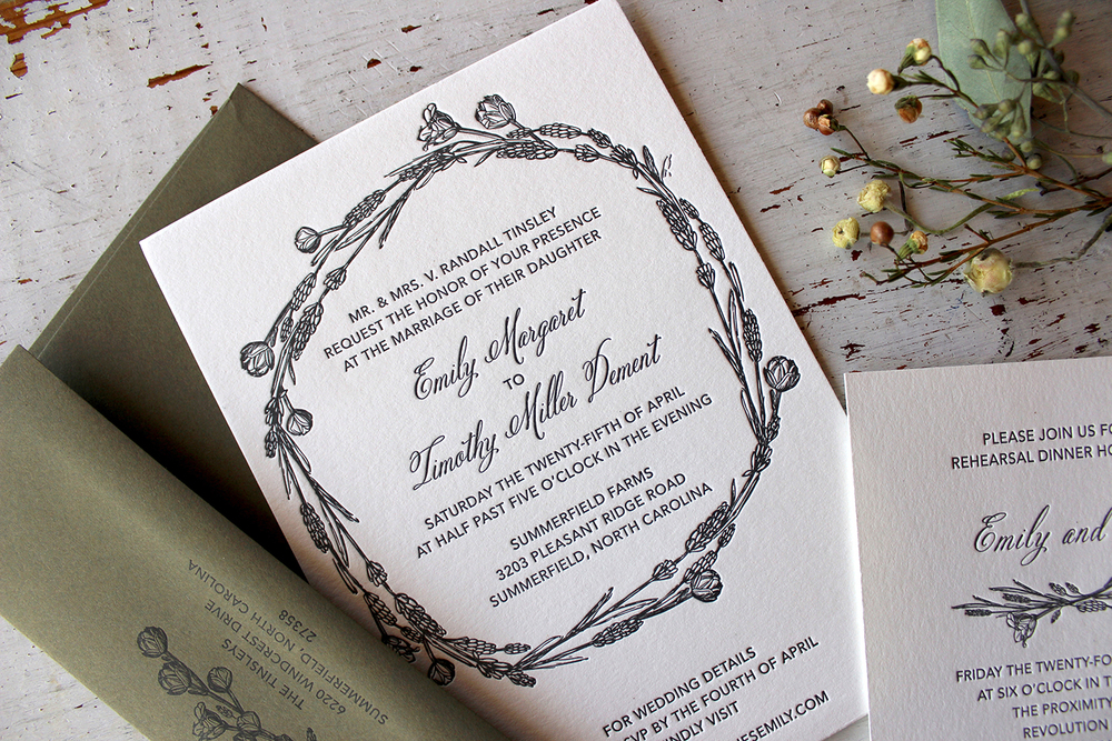 Emily & Timothy Wedding Invitation